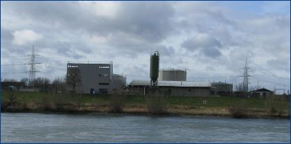 View of the plant complex from the other side of the Rhine.